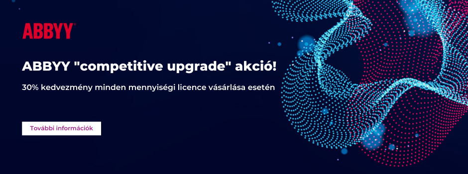 "ABBYY ""competitive upgrade"" akció!"